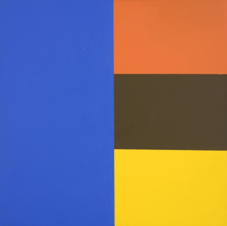 Jean Spencer  'Untitled' - System I, 1978  Oil on board  20.2 x 20.2 cm
