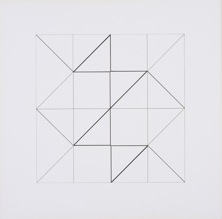 Jean Spencer  Systems Composition, 1975  Ink and gouache on paper  48 x 48 cm