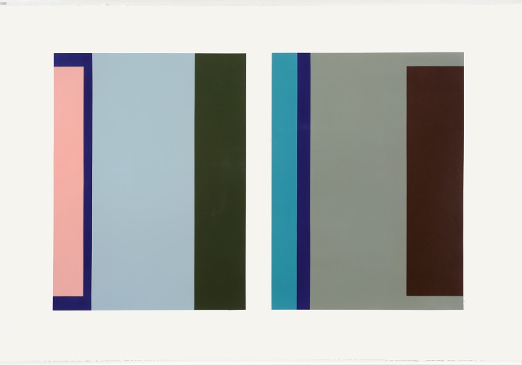 Jean Spencer  'Untitled' - Systems, c.1990s  Gouache on paper  70 x 106 cm