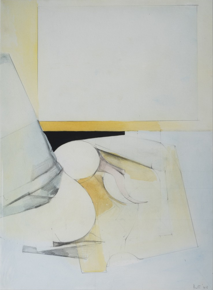 Adrian Heath  (Untitled), 1985  Pencil, ink and watercolour on paper  76 x 55 cm