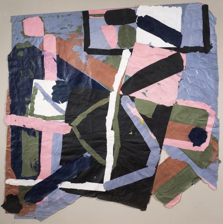 Francis Davison, G-52, 1978-83  Collage  118 x 124.5 cm