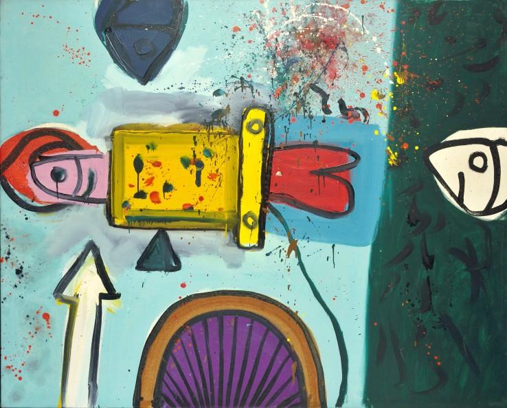 Alan Davie  Opus O.568C Fish Charm No.3, 1965  Oil on canvas  121.9 x 152.4 cm
