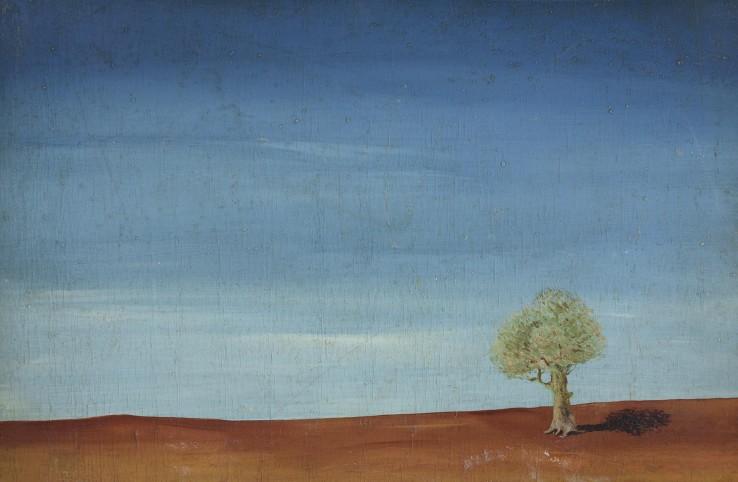 William Gear  Palestine Landscape, 1942  Oil on board  31 x 48 cm