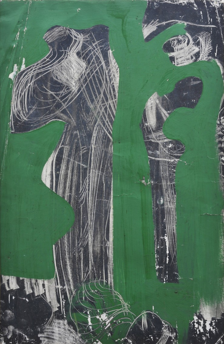 Peter Lanyon  Untitled (Boneyard), 1952  Charcoal and gouache on paper  55.2 x 36 cm