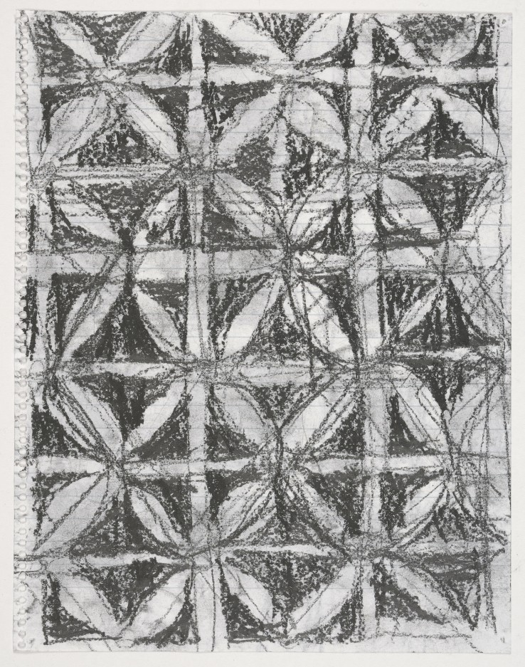 Linda Karshan  Double Sided 1994  Graphite on paper  22.5 x 17.5 cm