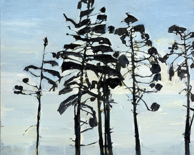 Ffiona Lewis  East Coast Pine Break, 2015  Oil on board  122 x 152 cm