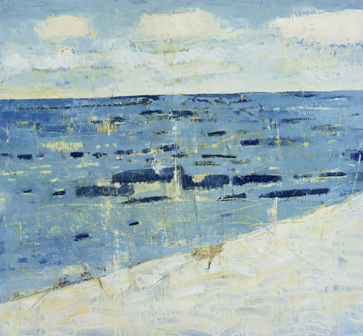Ffiona Lewis  South Westerly Gusting 6, 2015  Oil on board  92.5 x 102.5 cm