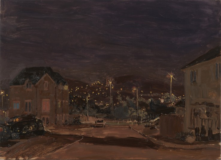 Danny Markey  End of the Street at Night, 2011  Oil on board  38.5 x 53 cm