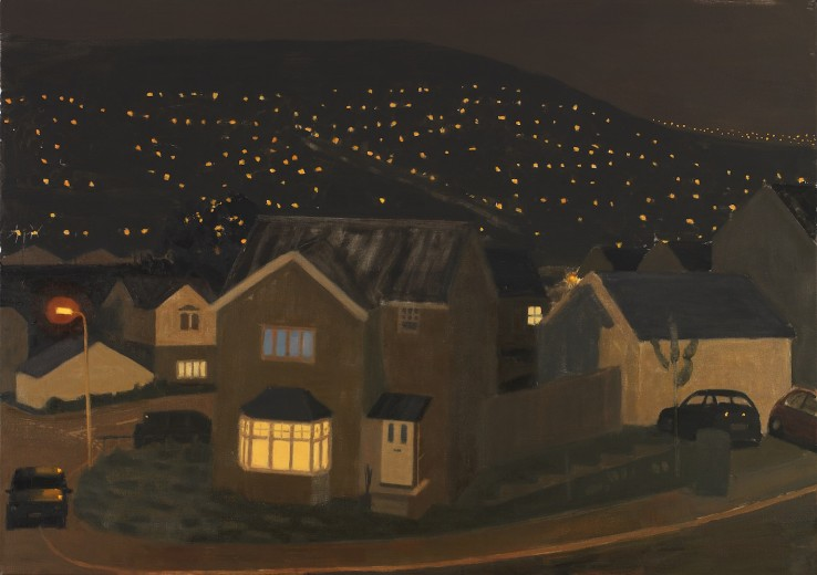 Danny Markey  Estate at Night  Oil on canvas  97.5 x 137.5 cm