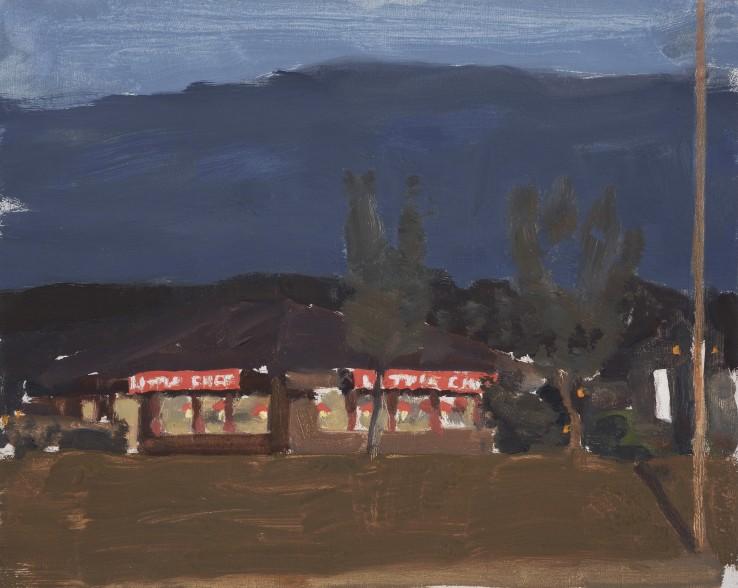 Danny Markey  Little Chef, 2001  Oil on board  23.5 x 29.5 cm