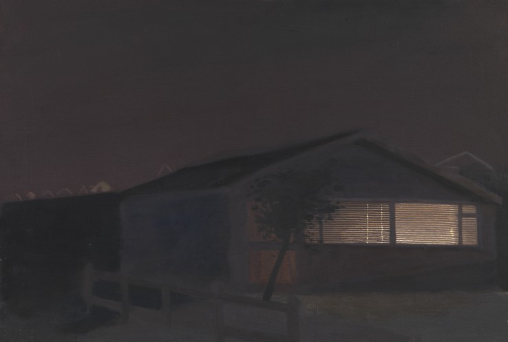 Danny Markey  Night, Bungalow, 1990  Oil on canvas  45.2 x 65 cm