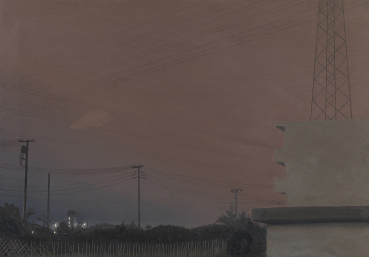 Danny Markey  Apartments, Gytoku, 1990  Oil on canvas  45.6 x 66 cm