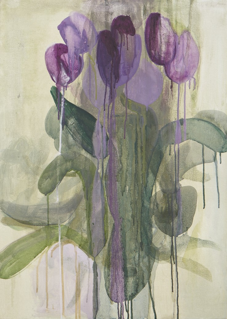 Sarah Armstrong-Jones  Tulips, 2014  Oil on canvas  71 x 51 cm