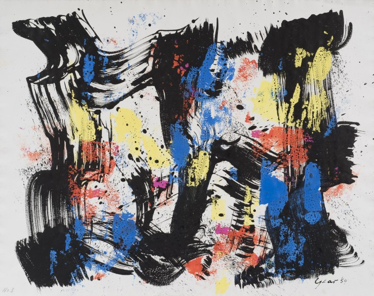 William Gear  Untitled, 1959  Gouache on paper  49 x 62 cm