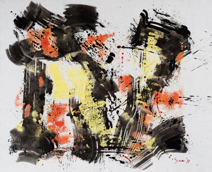 William Gear  Untitled, 1958  Ink on paper  49 x 62 cm