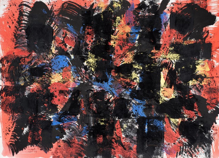 William Gear  Nocturne, 1959  Acrylic and ink on paper  57 x 79 cm