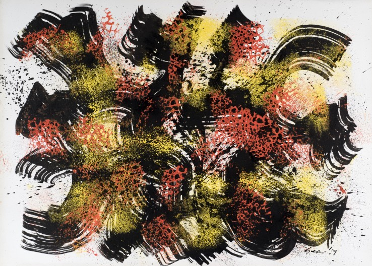 William Gear  Untitled, 1959  Acrylic and ink on paper  58 x 79 cm