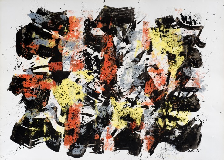William Gear  Goauche, Dec '58, 1958  Gouache on paper  57 x 79 cm