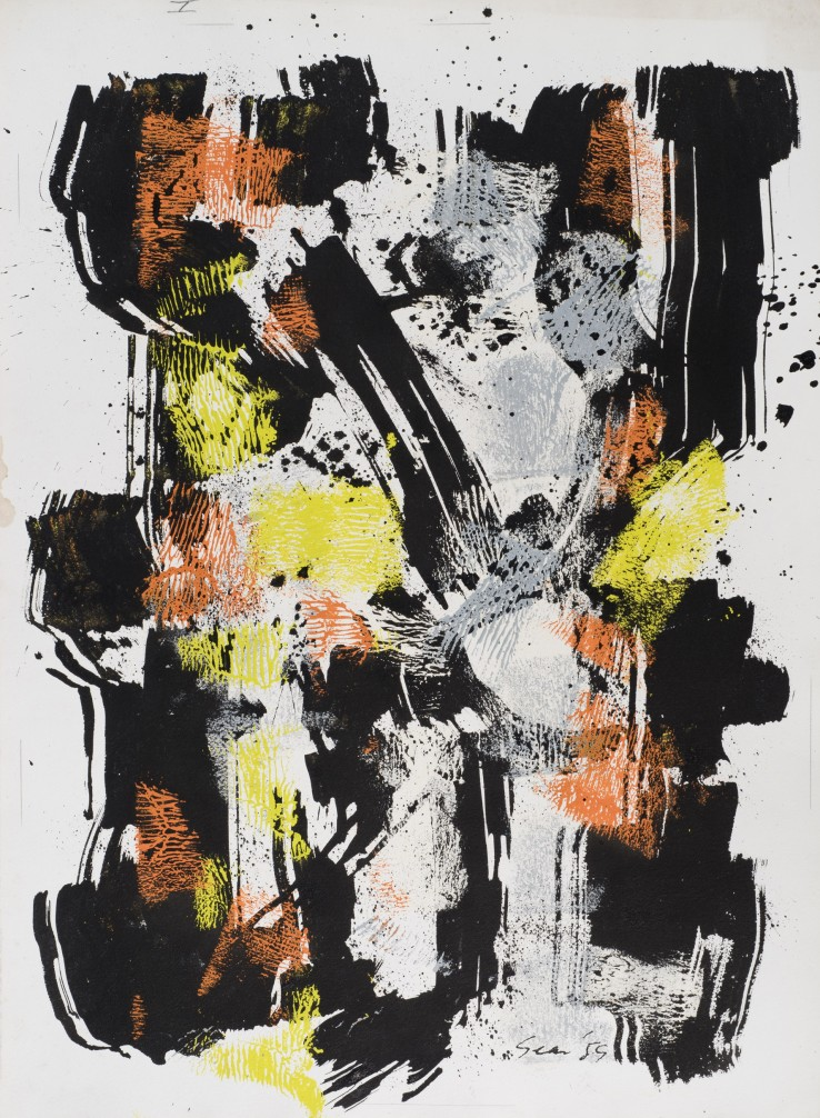 William Gear  Untitled, 1959  Ink and gouache on paper  79 x 57 cm
