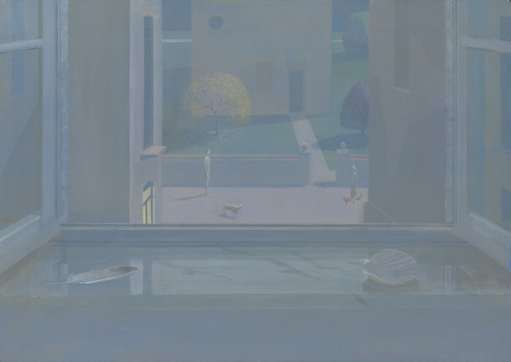 David Tindle  Walking in the Moonlight  Acrylic tempera  50.5 x 70.5 cm