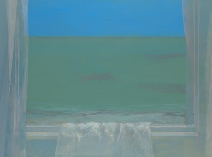 David Tindle  By the Sea  Egg tempera  50.5 x 70.5 cm