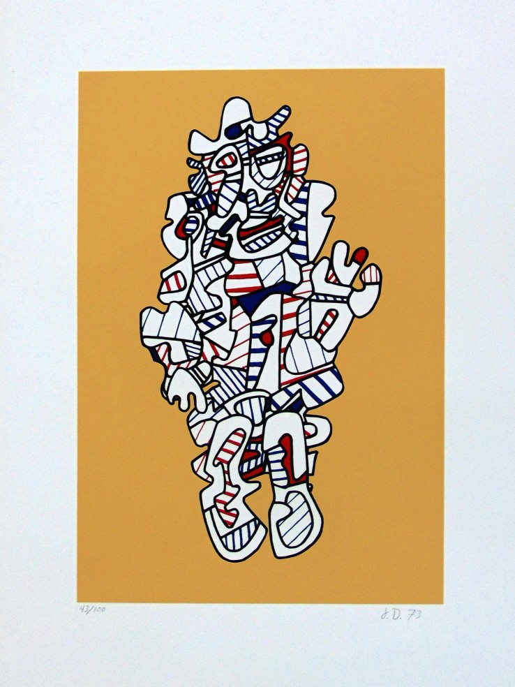 Jean Dubuffet  Denagator, from: Présences Fugaces, 1973  Screenprint  75.8 x 45.5 cm  Signed, dated and numbered.  Printed in colours on Hollandais wove paper.