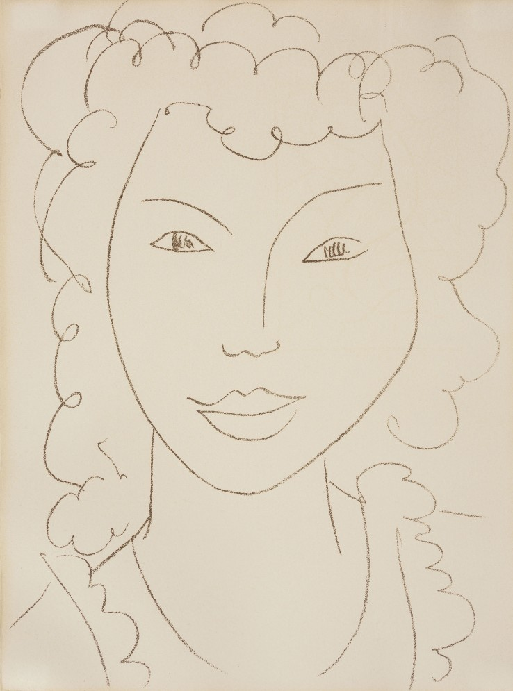 Henri Matisse  Au Coin d'une Rue - At the Street Corner-Young Girl, 1946-1953  Lithograph  37.8 x 28 cm