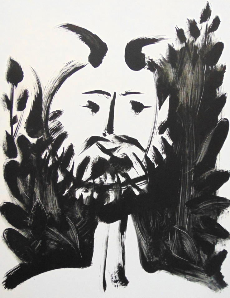 Pablo Picasso  Smiling Faun | Faune Souriant, 1948  Lithograph  76.5 x 56 cm  Signed and numbered.  Printed on Arches wove paper.