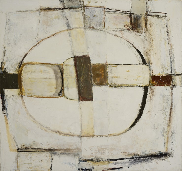 Paul Feiler  Scathe, Brown, 1963  Oil on canvas  76 x 81 cm  Signed, dated and titled verso