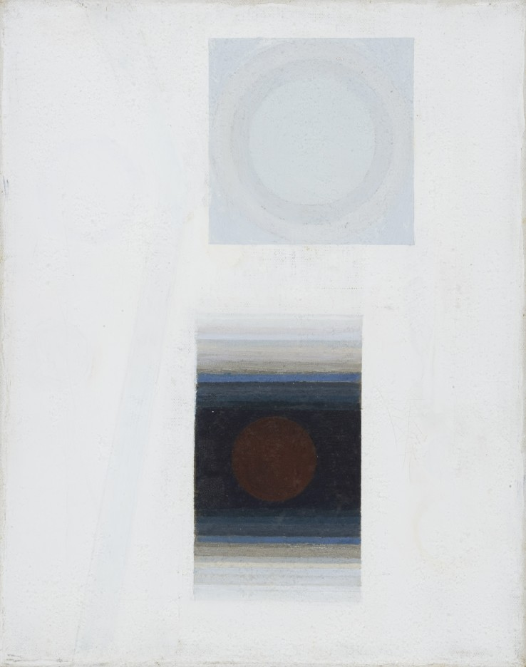 Orbis XXIII  1969-70  Oil on canvas  25 x 20 cm  Exhibited: Paul Feiler: Form to Essence, Tate St Ives, 1995