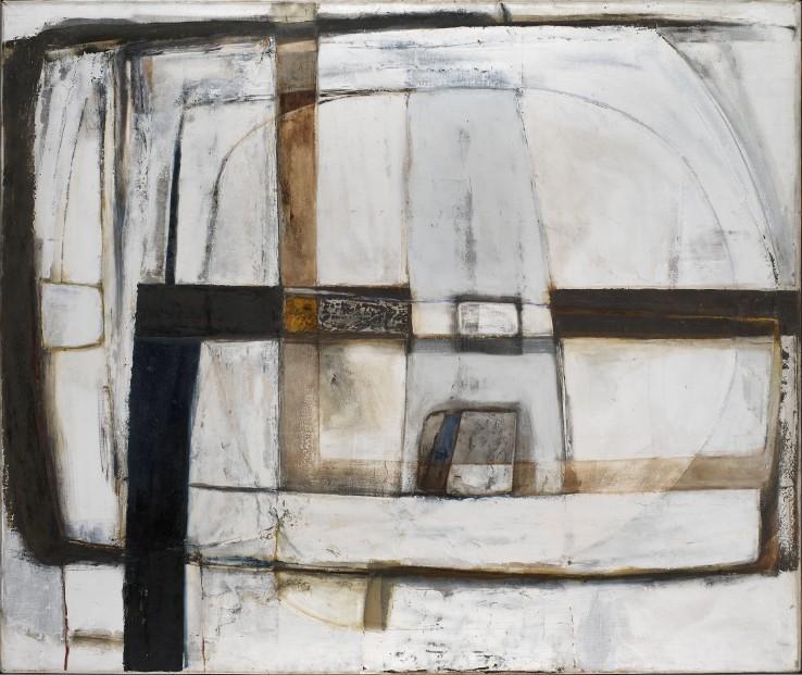 Grey Receding  1964-65  Oil on canvas laid on wood  152 x 183 cm