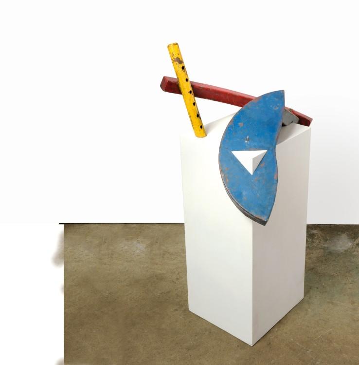 Crux  2014  Welded steel  65 x 60 x 60 cm