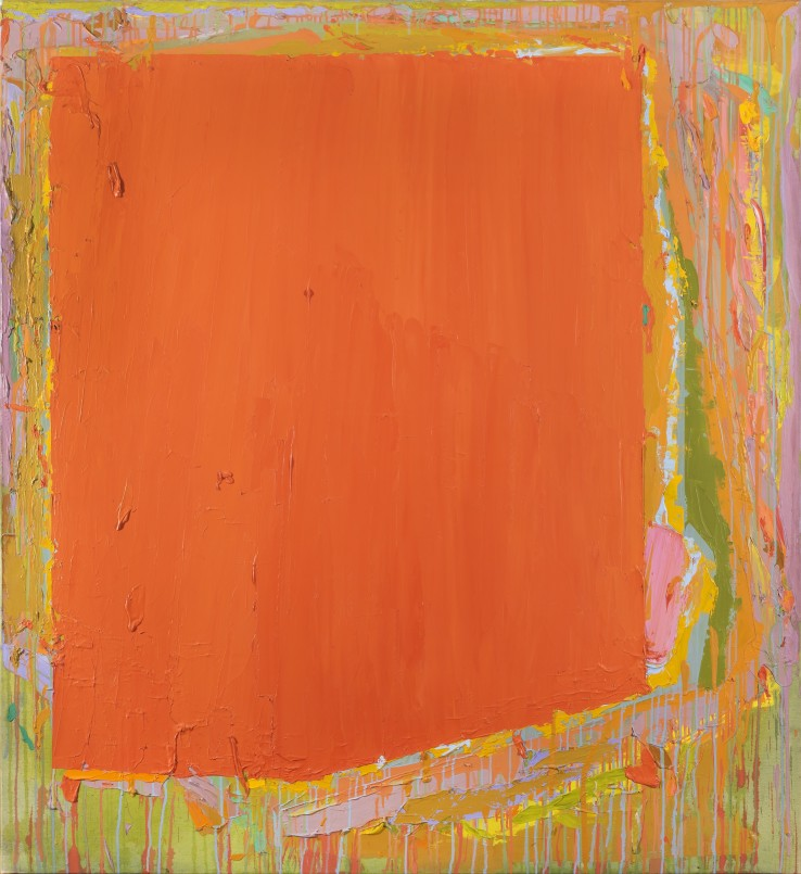 John Hoyland RA  28.3.74  1974  Acrylic on canvas  182 x 168 cm