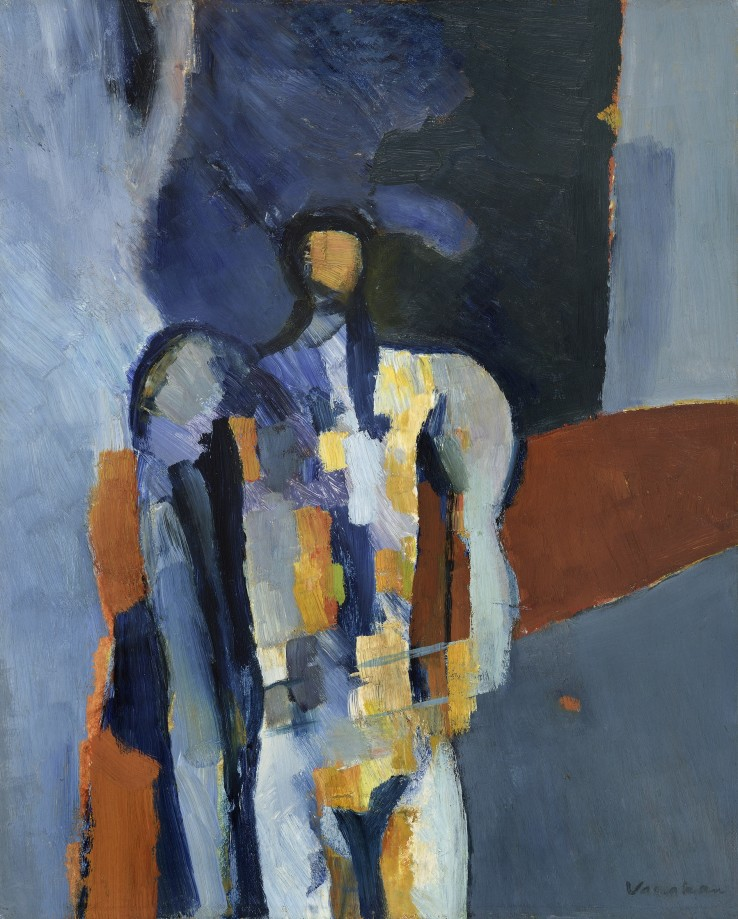 Keith Vaughan  Study for Lazarus I  1957  Oil on board  43 x 34 cm