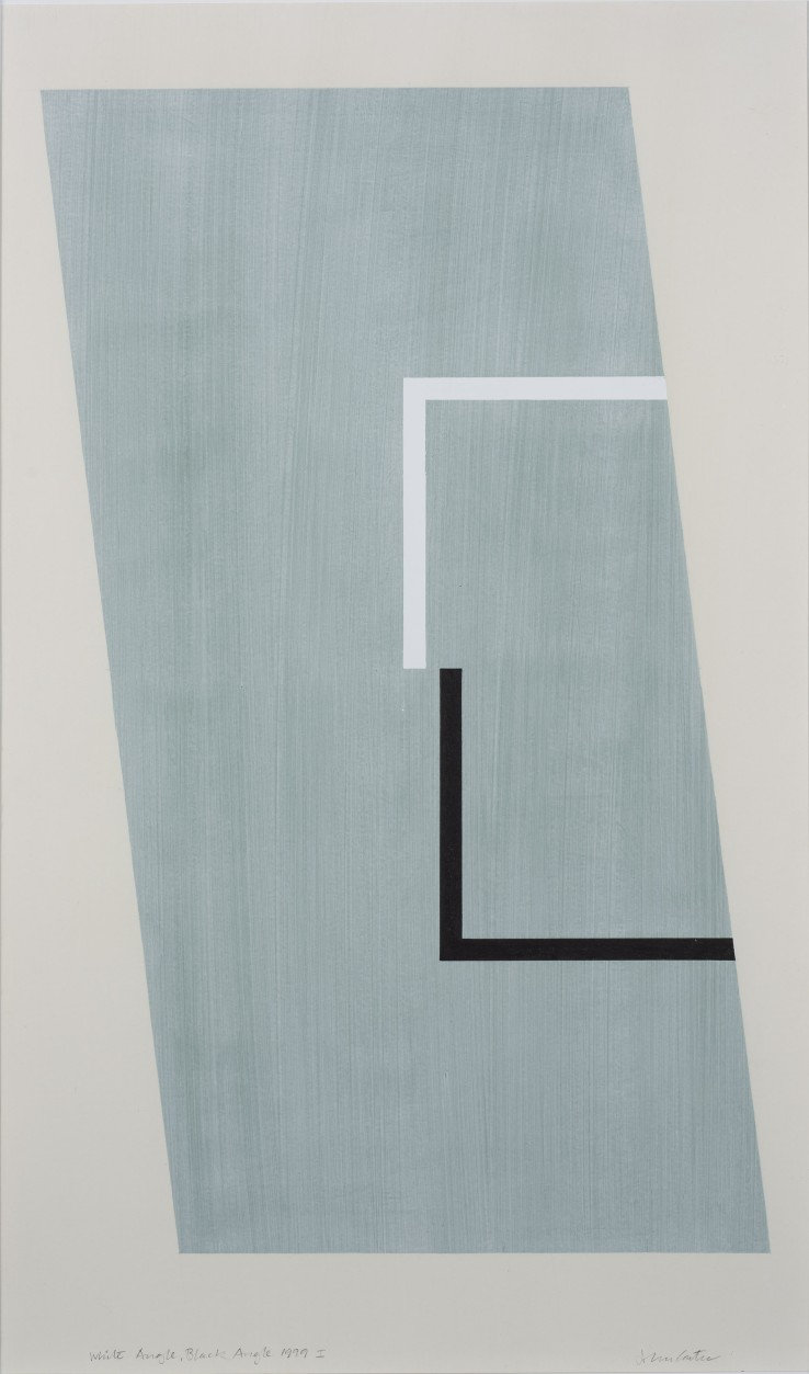 White Angle, Black Angle, 1999  Acrylic and collage on paper  50 x 43.5 cm  Stephen Bann, John Carter: On paper, Royal Academy of Arts, 2019 (illus. p. 97)