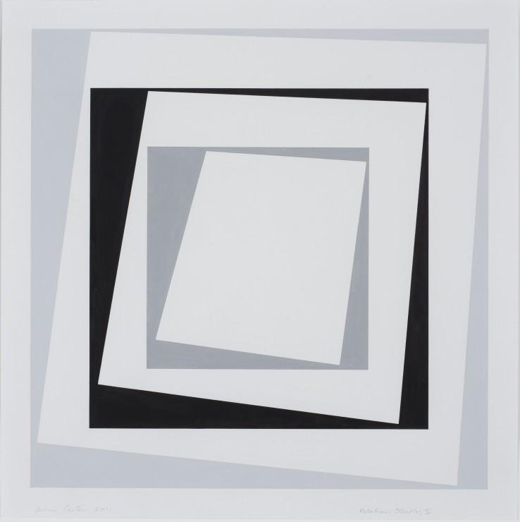 Rotation Study II, 2011  Acrylic gouache on paper  35 x 35 cm