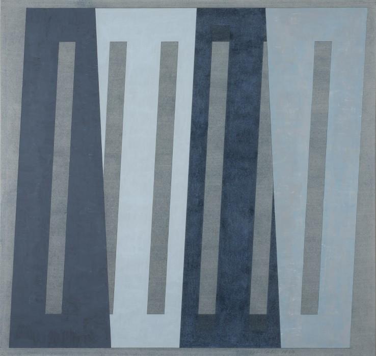 John Carter  Untitled Theme: Blues II, 1989  Acrylic on paper  80.6 x 83.8 cm