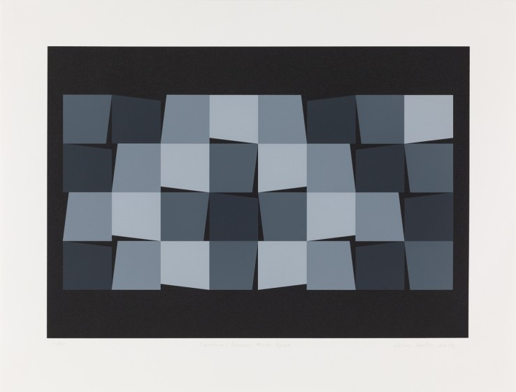 Identical Shapes: Four Rows, 2013  Screenprint  49 x 66 cm  Edition of 40 impressions