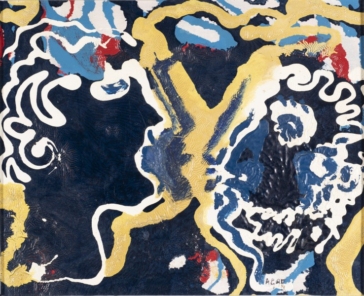 Eileen Agar RA  Profiles, 1940  Oil and enamel on canvas  27 x 34 cm