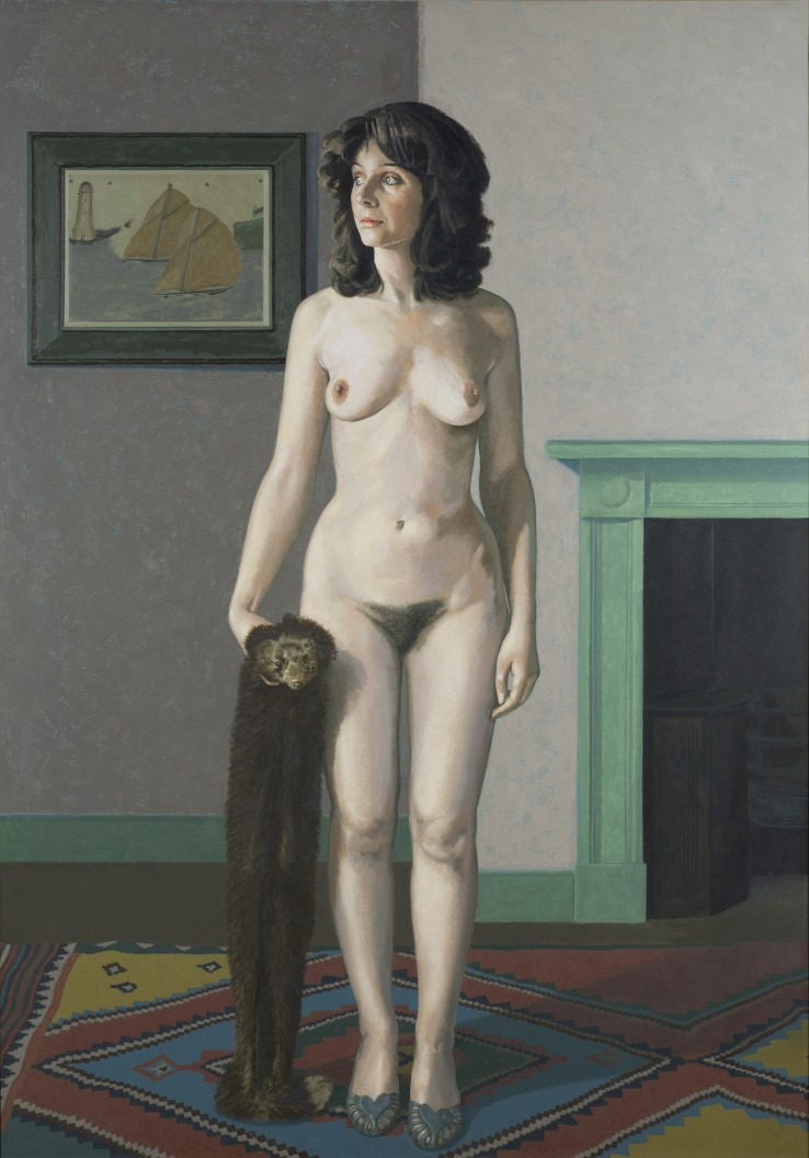 David Inshaw  Self-Portrait with Nude, 1983-2004  Oil on canvas  175 x 122 cm  Exhibited: The Definitive Nude, Tate Gallery, London, 1983
