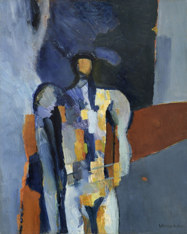 Keith Vaughan  Study for Lazarus I, 1957  Oil on board  42 x 33 cm  Exhibited: Keith Vaughan: Recent Paintings, Leicester Galleries, London, 1958  Seven British Painters of Today, National Museum of Wales, Cardiff, 1959