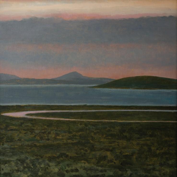 Bristol Channel, River Parrett, 2016  Oil on canvas  51 x 51 cm
