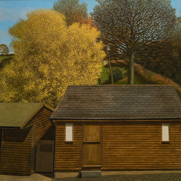Studio, Clyro, 1995  Oil on canvas  76 x 76 cm