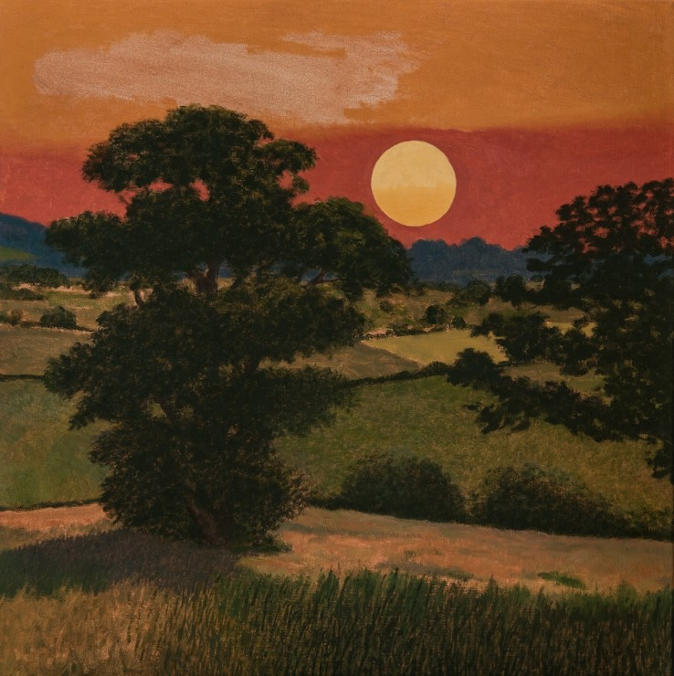 Quantocks Sunset, 2018  Oil on canvas  61 x 61 cm