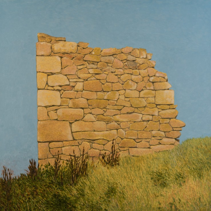 Engine House, Botallack, 2018  Oil on canvas  91 x 91 cm
