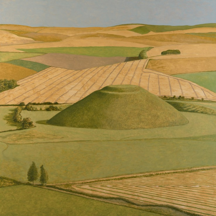 Silbury Hill from the Air, 2018  Oil on canvas  117 x 117 cm
