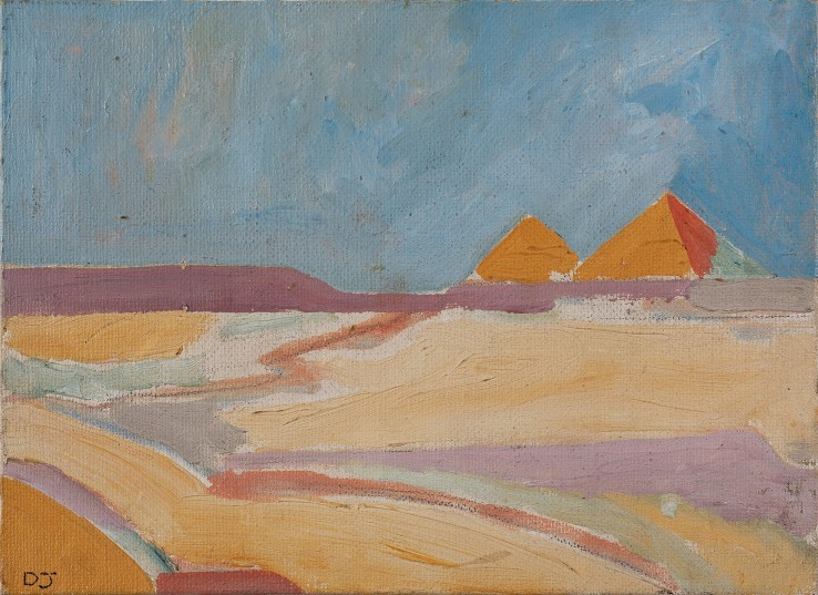 Derek Jarman  Pyramid in Landscape, 1966  Oil on canvas  33 x 37 cm