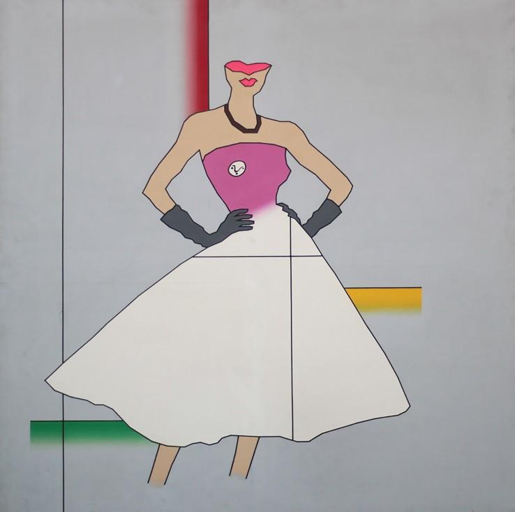 Duggie Fields  SMart, 1976  Acrylic on canvas  163 x 163 cm