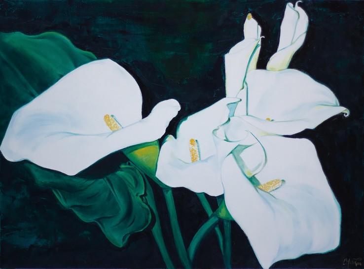 Luciana Martinez  Lilies, 1981  Oil and pastel on canvas  91 x 122 cm