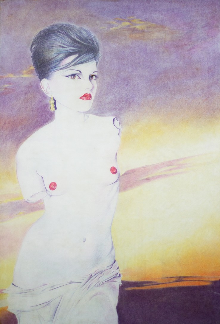 Luciana Martinez  Princess Julia, 1979  Pastel and crayon on paper  111 x 76 cm